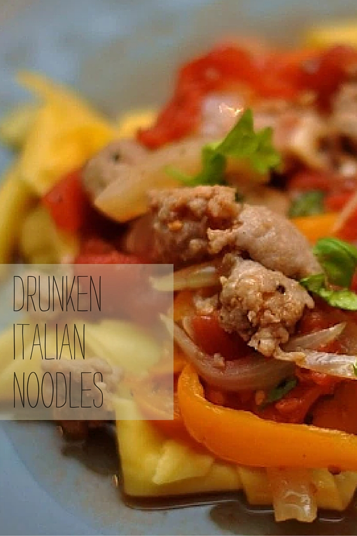 Mommydo.com | Drunken Italian Noodles |Easy pasta recipe that's perfect for entertaining | uses fresh ingredients | 30 min or less