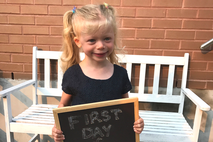 inclusion - kindy first day